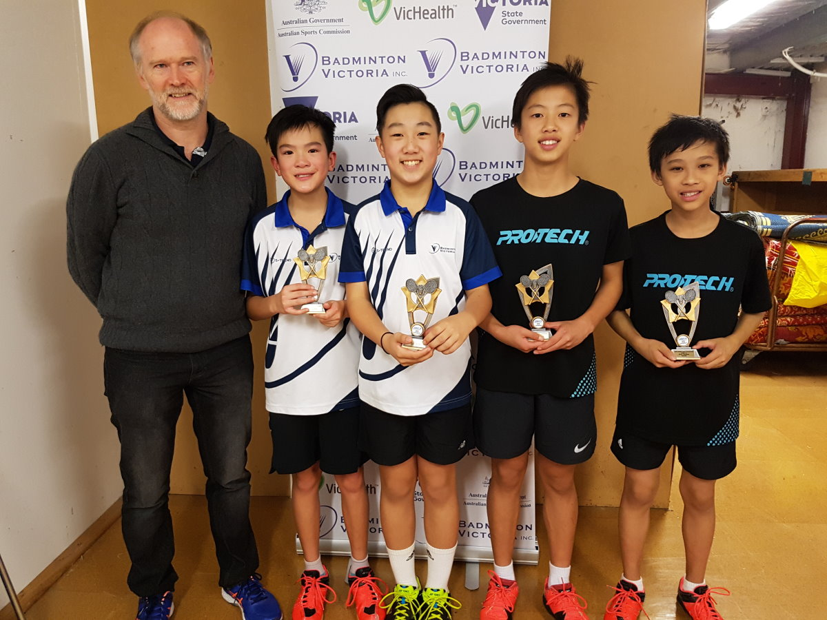 2018 U15 Boys Doubles Winners